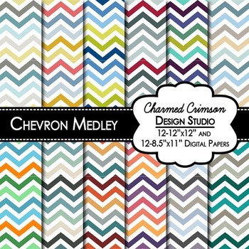 Chevron Medley Digital Paper 1048