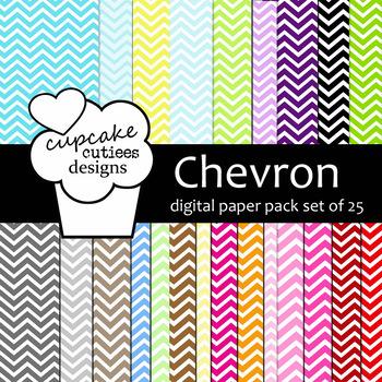 Chevron Mega Set Digital Paper Pack 12x12 and 8.5 x 11JPEG
