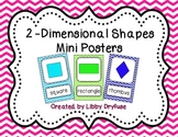 2D Shapes Posters {Bright Chevron}