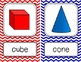 3D Shapes Posters {Bright Chevron}