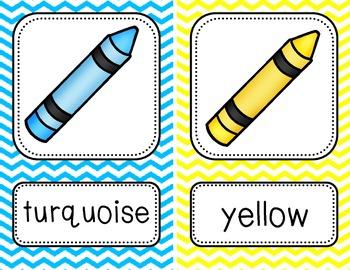Color Posters {Bright Chevron}