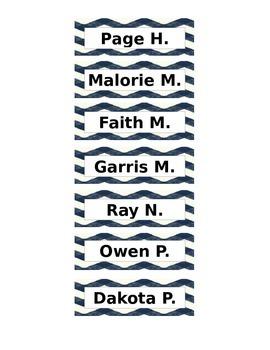 Chevron Mini Name Tags