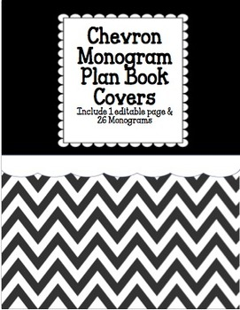 Chevron Monogram Plan Book: Black