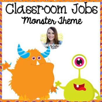 Chevron Monster Friends Classroom Job Chart