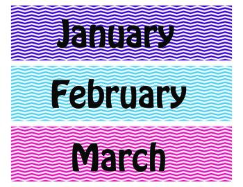 Chevron Month Labels