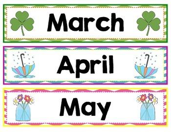 Chevron Month Labels for Calendar