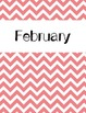 Chevron Monthly Binder Covers and Labels