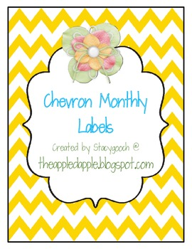 Chevron Monthly Labels