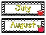 Chevron Months & Days Calendar Set
