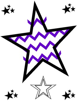 Chevron Months with Rockstar Birthday Chart Details