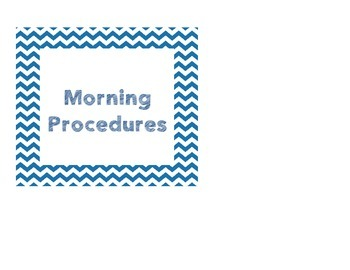 Chevron Morning Procedures and Voice Level Poster/ Cards