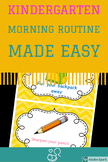 Chevron Morning Routine Schedule With Pictures (Editable)
