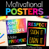 Chevron Motivational Posters: Chevron Classroom Decor