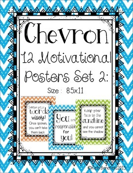 Chevron Motivational Posters Set 2