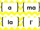 Chevron Mots Frequents Francais - French Sight Words