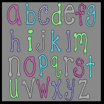 Letters/alphabet/fonts Chevron Mult-Colored