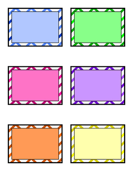 Chevron Multicolor Blank Labels