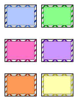 Chevron Multicolor Blank Labels