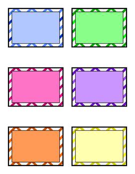 Chevron Multicolor Label Set