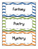 Chevron - Multicolored - Book Genre Labels and Posters