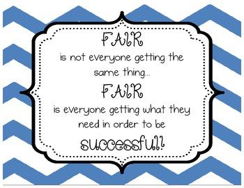 Chevron - Multicolored - Classroom Inspirational Quotes - Set of 6