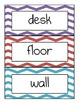 Chevron - Multicolored - Classroom Labels