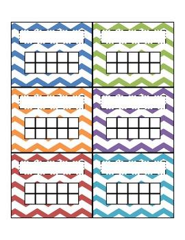 Chevron Multicolored Incentive Charts - Six Bright Colors