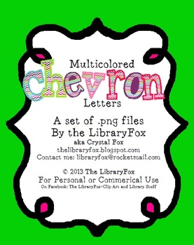 Chevron Multicolored Letters for Titles and Bulletin Boards