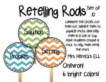 Chevron - Multicolored - Retelling Rods - Story Elements