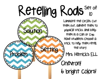 Chevron - Multicolored - Retelling Rods - Story Elements