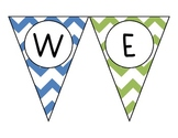 Chevron - Multicolored - Welcome Pendant Banner - English