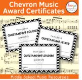 Chevron Music Award Certificates