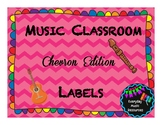 Chevron Music Classroom Organization Labels