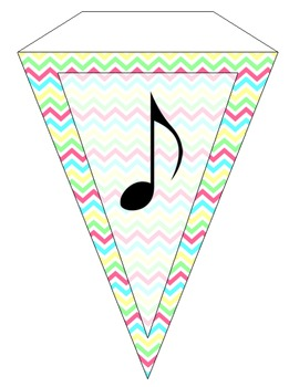 Chevron Music Pennant