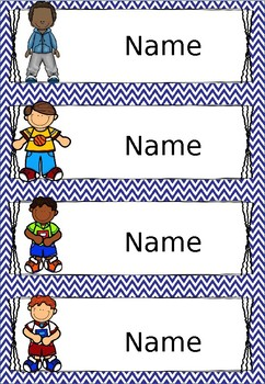 Chevron Name Labels