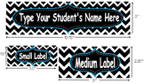 Chevron Name Plate and Labels (Editable)