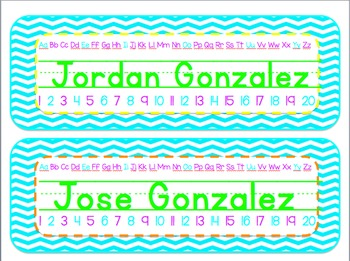 Chevron Name Plates Color POP