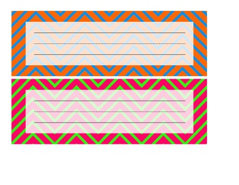 Chevron Name Plates - Complimentary Colors