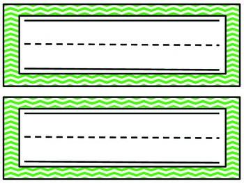 Chevron Name Plates- Green