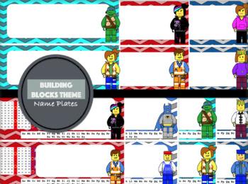 Chevron Nameplates: Building Blocks Theme
