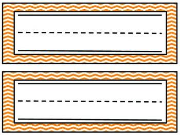 Chevron Name Plates- Orange