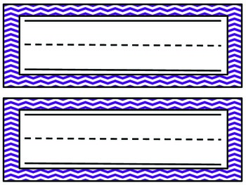 Chevron Name Plates- Purple