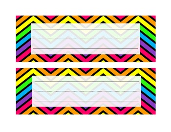 Chevron Name Plates - Rainbow
