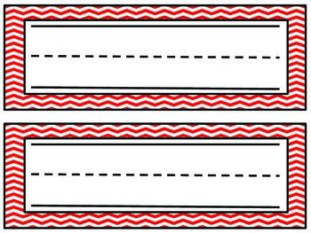 Chevron Name Plates- Red