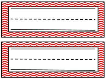 Chevron Name Plates- Red