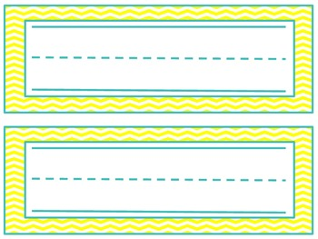 Chevron Name Plates- Yellow