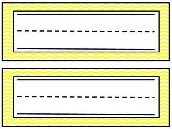 Chevron Name Plates- Yellow