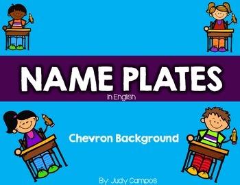 Chevron Name Plates in English