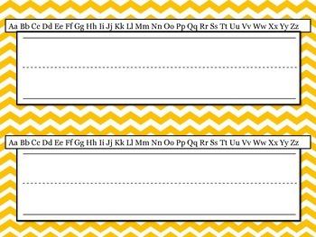 Chevron Name Plates with Alphabet