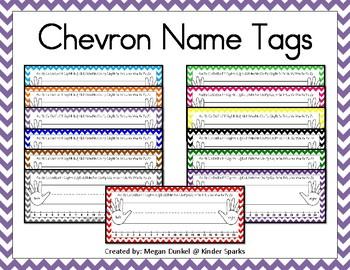 Chevron Name Tags